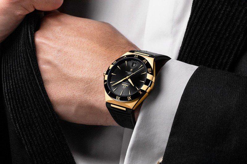新款OMEGA星座系列男仕腕表,展現如星座般的銳利閃耀氣質。圖 / OMEGA提供。
