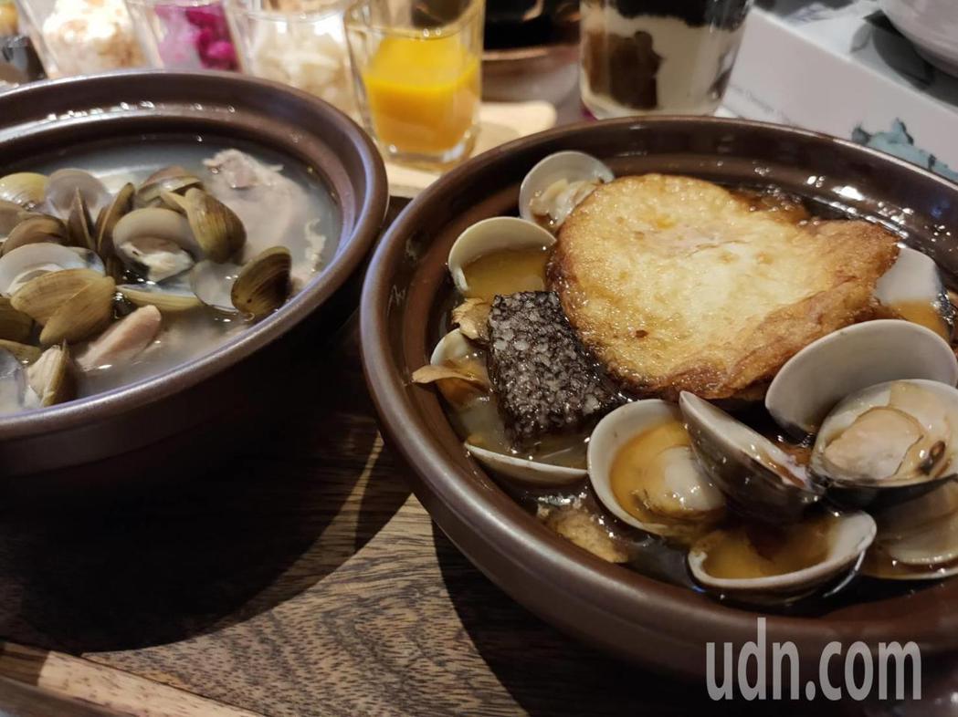 上市公司漢來美食今天在台中市中友百貨公司推出全台第一家的「安那居活力精燉雞湯」餐...