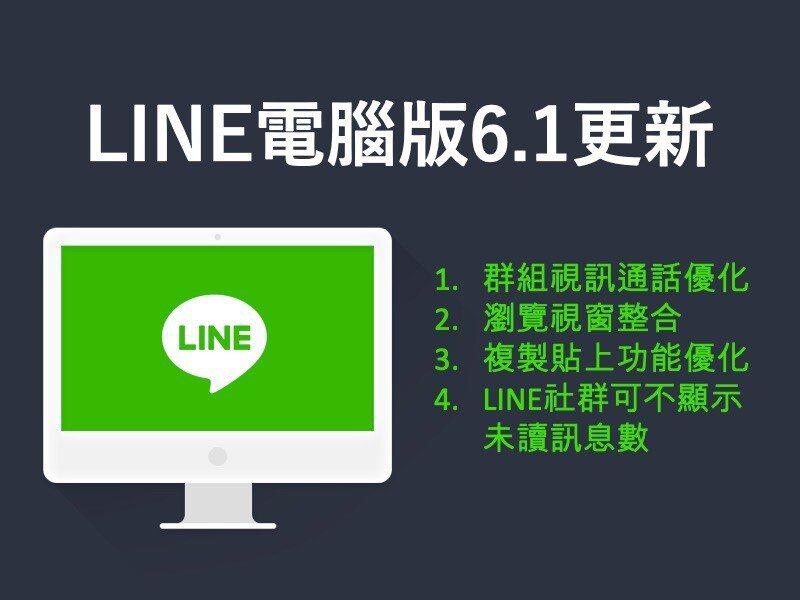 LINE推出電腦版6.1更新,針對群組視訊通話、瀏覽視窗介面、複製貼上功能,以及...