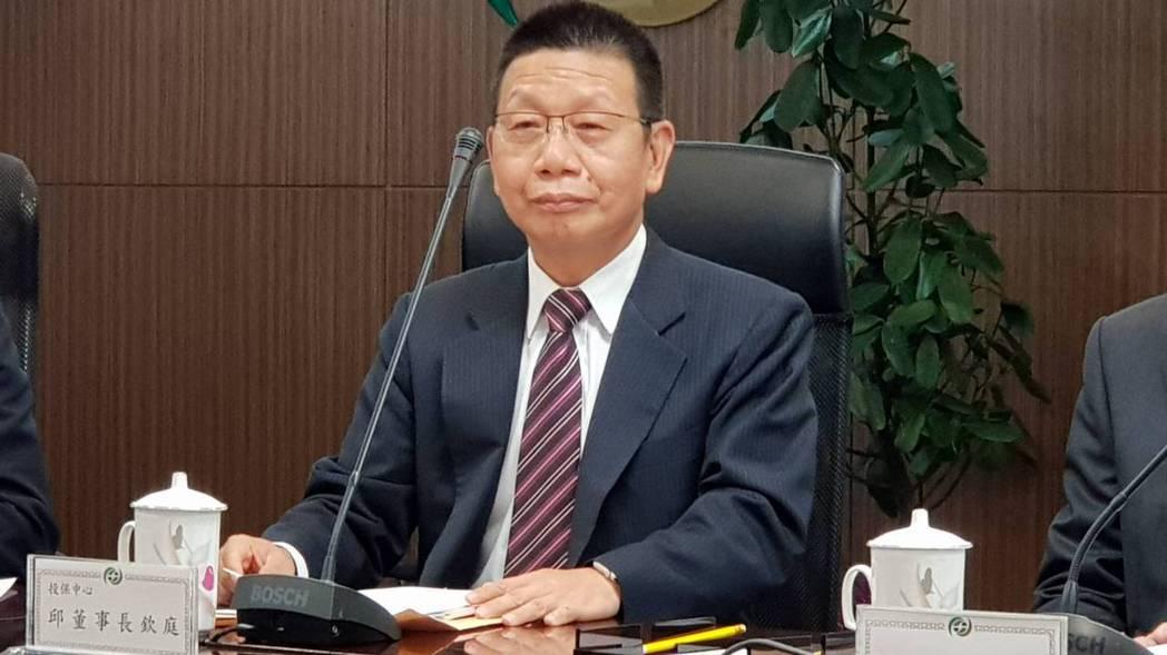 投保中心董事長邱欽庭。記者戴瑞瑤/攝影。
