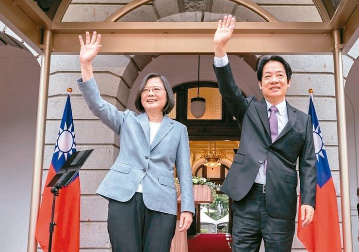 蔡總統(左)連任就職演說宣示成立「修憲委員會」。 圖/總統府提供