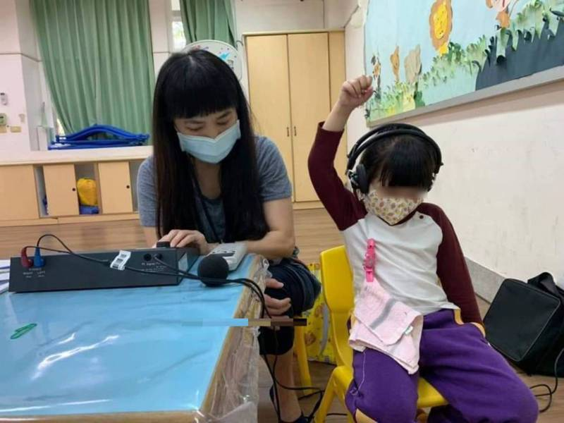 苗栗縣今年完成164家幼兒園3533名幼童聽力篩檢。圖/苗栗市衛生所提供