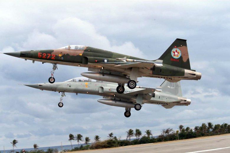 部訓機的F-5E/F服役已久,即將退役。 圖/聯合報系資料照