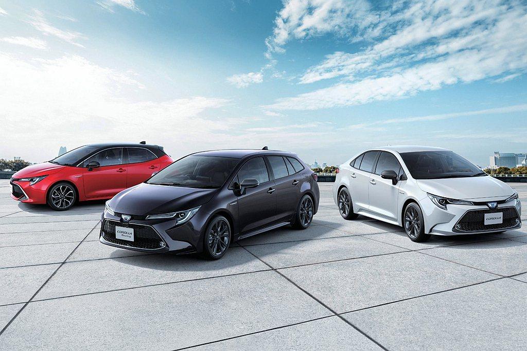 Toyota Corolla車系以57,235台成績列為銷售排行榜第二。 圖/T...