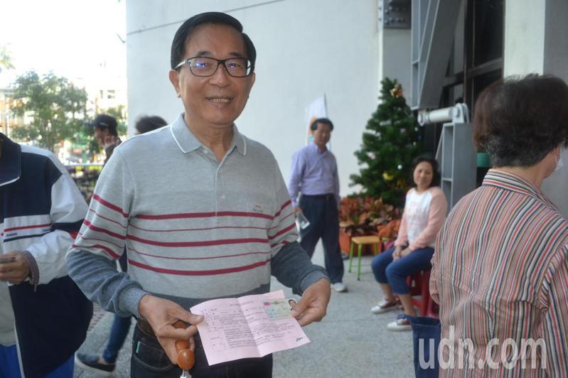 前總統陳水扁。聯合報系記者鄭惠仁/攝影