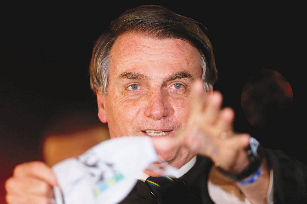 巴西總統波索納洛。(路透) 郭乃日