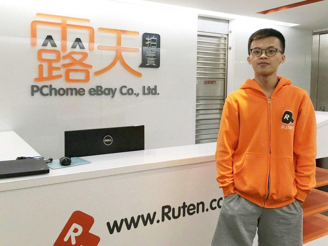 企管系學生楊皓鈞大四一整年在露天市集實習。 大葉大學/提供。