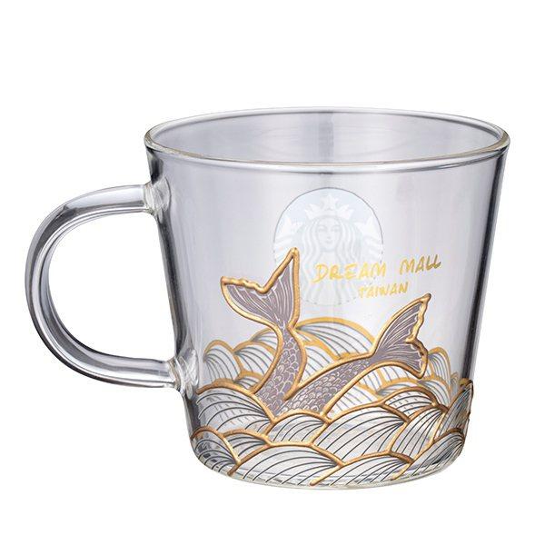 人魚夢想玻璃杯$700(高雄夢時代門市首賣款)。圖/星巴克Starbucks提供