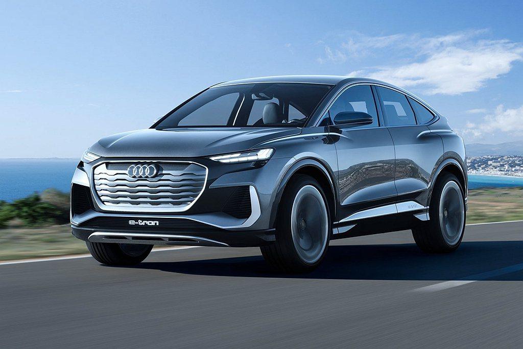 Audi再發表新電動車作品Q4 Sportback e-tron Concept...