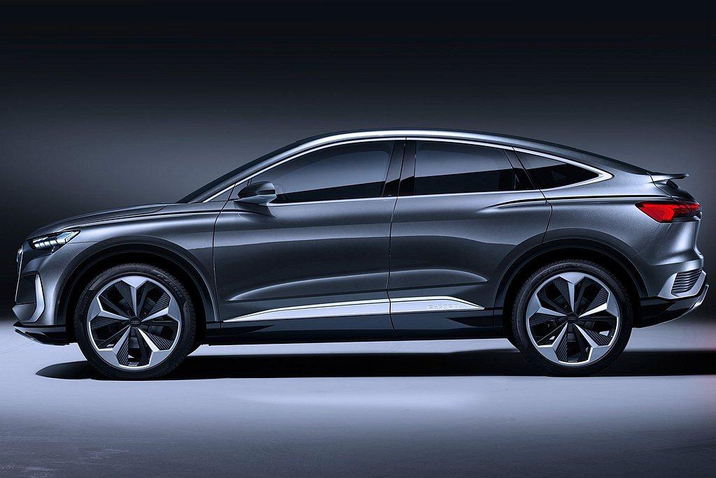 Audi Q4 Sportback e-tron概念車免除中央傳動軸與排氣管限制...