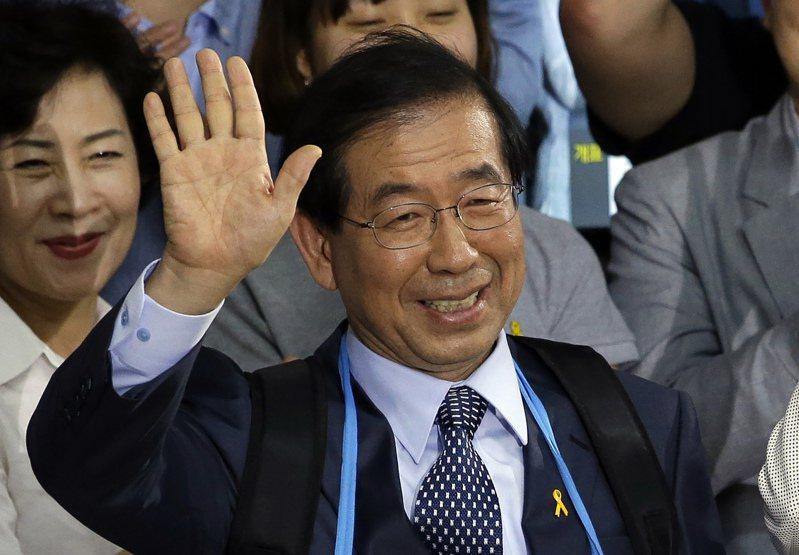 南韓已故首爾市長朴元淳 。美聯社