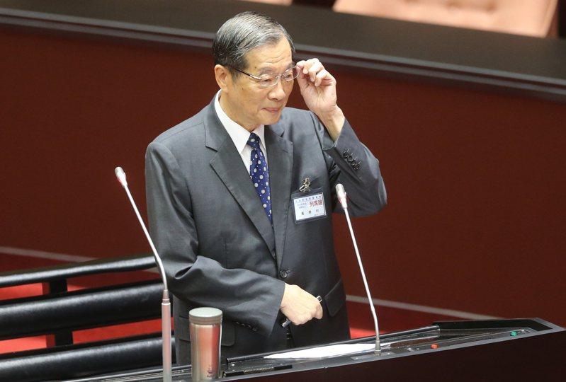 考試院長被提名人黃榮村。記者曾學仁/攝影