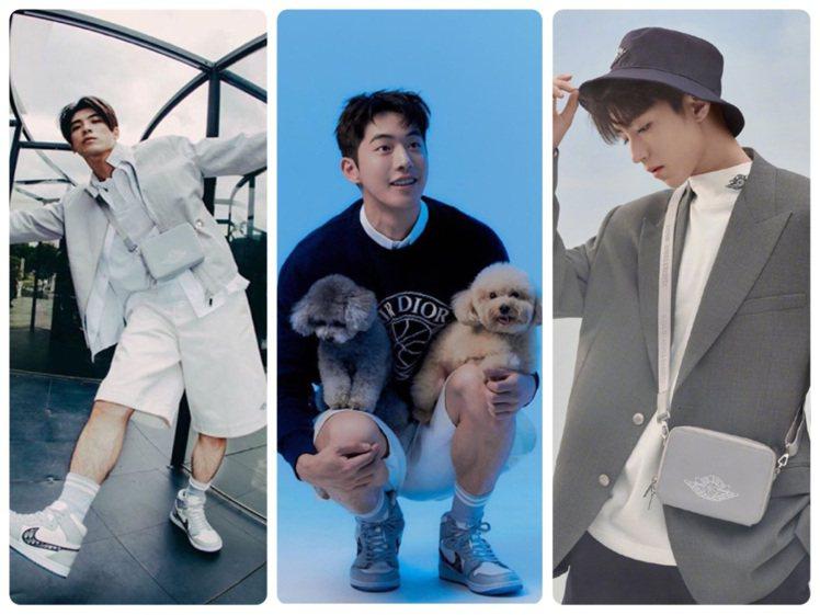 林哲熹、南柱赫、王俊凱等男星近期都演繹了全新上市的Air Dior系列。圖/取自...