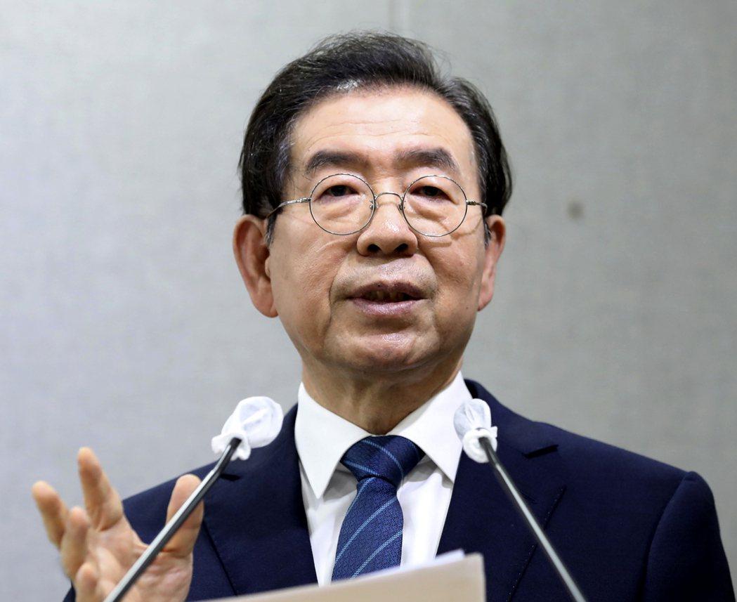 首爾市長朴元淳疑似輕生,遺體9日晚間被發現。  美聯社