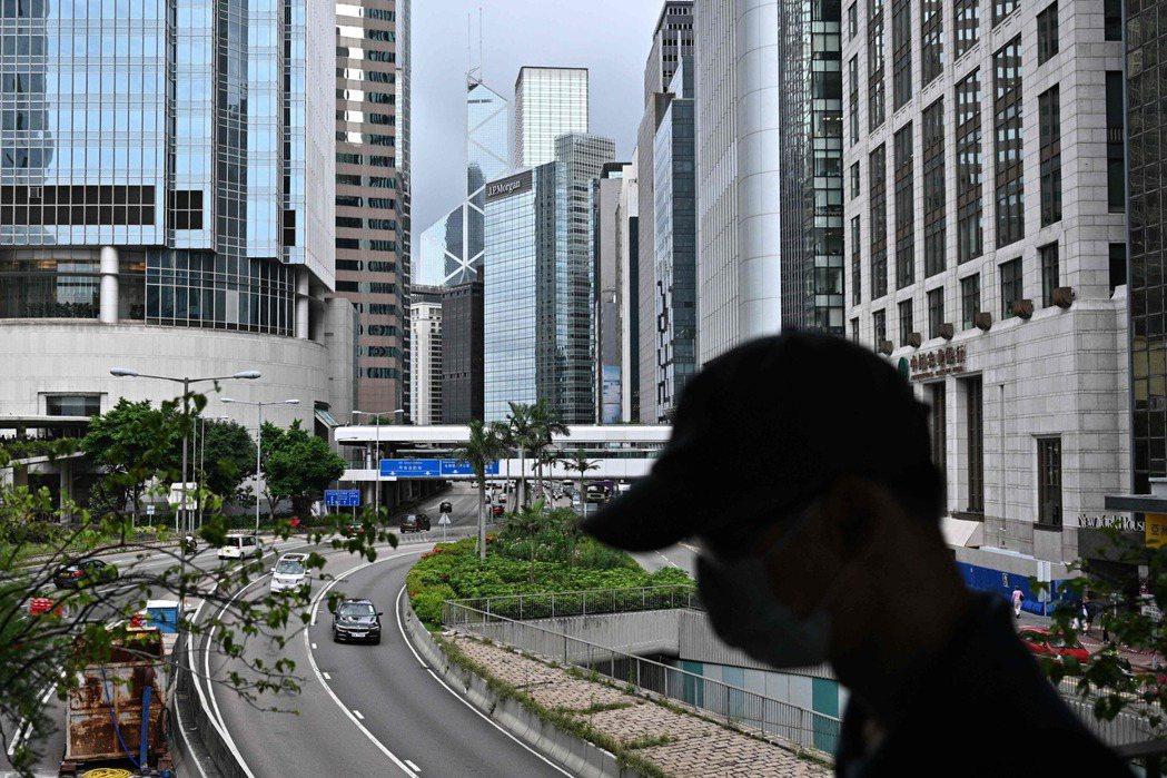香港新冠肺炎疫情再起。(法新社 )