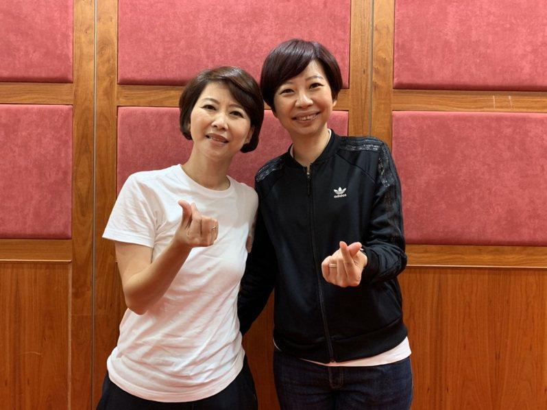 民進黨立委陳亭妃(左)、台南市議員陳怡珍(右)兩姊妹相差7歲,問政、服務相輔相成。記者鄭維真/攝影