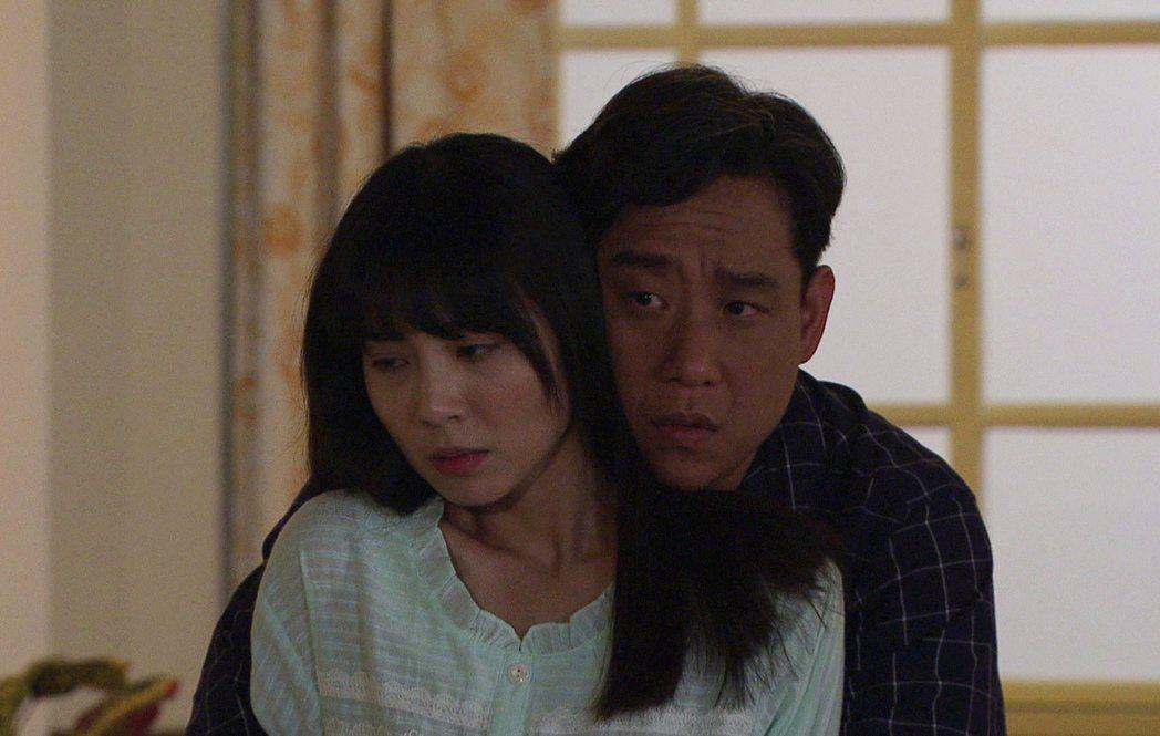 阿龐(右)、洪淇在「生生世世」中上演不倫戀。圖/台視提供