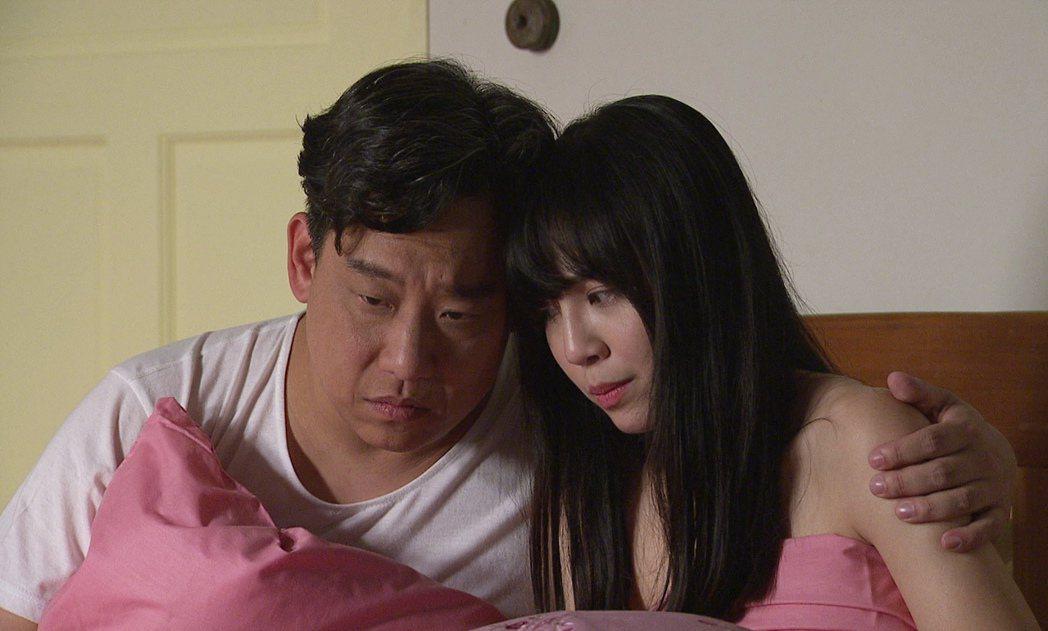 阿龐(左)、洪淇在「生生世世」中上演不倫戀。圖/台視提供