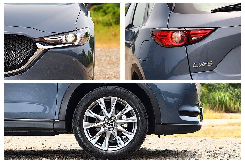 外觀方面Mazda CX-5頂級獻定版和旗艦獻定版並沒有顯著差異,仍將LED頭燈...