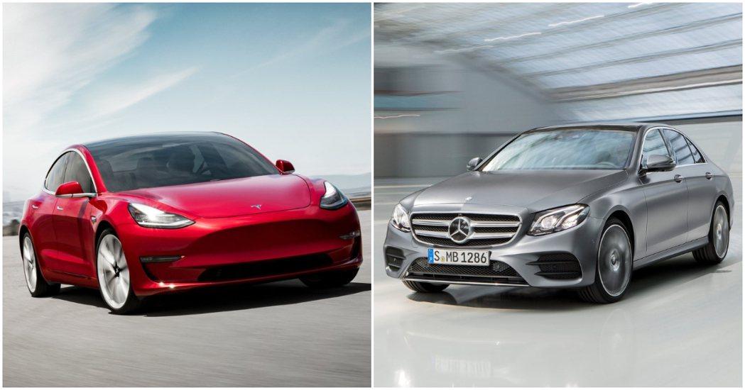 Model 3的突飛猛進,也許將撼動長期身為Mercedes-Benz E-Cl...