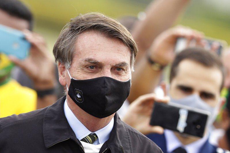 巴西總統波索納洛確診新冠肺炎。 圖/美聯社