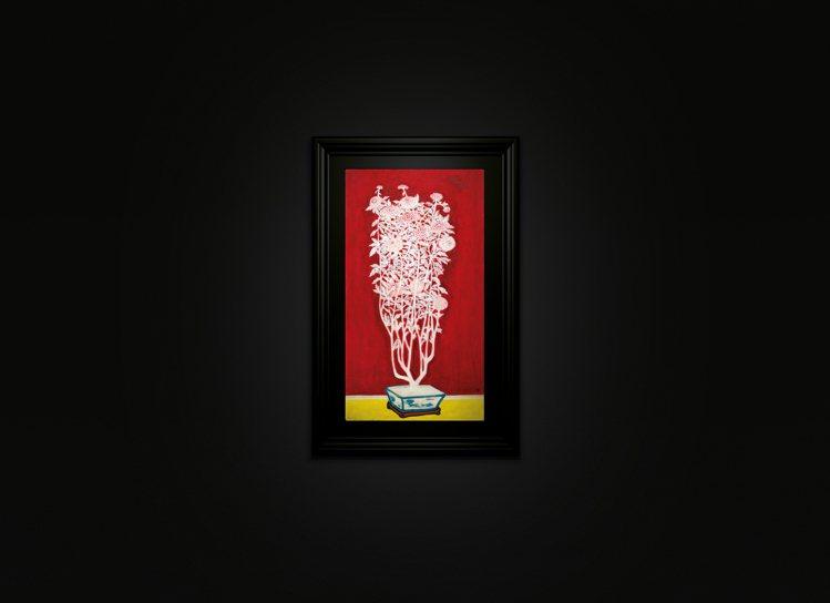 佳士得晚拍上,常玉《青花盆中盛開的菊花》以約7.3億元台幣(191,620,00...
