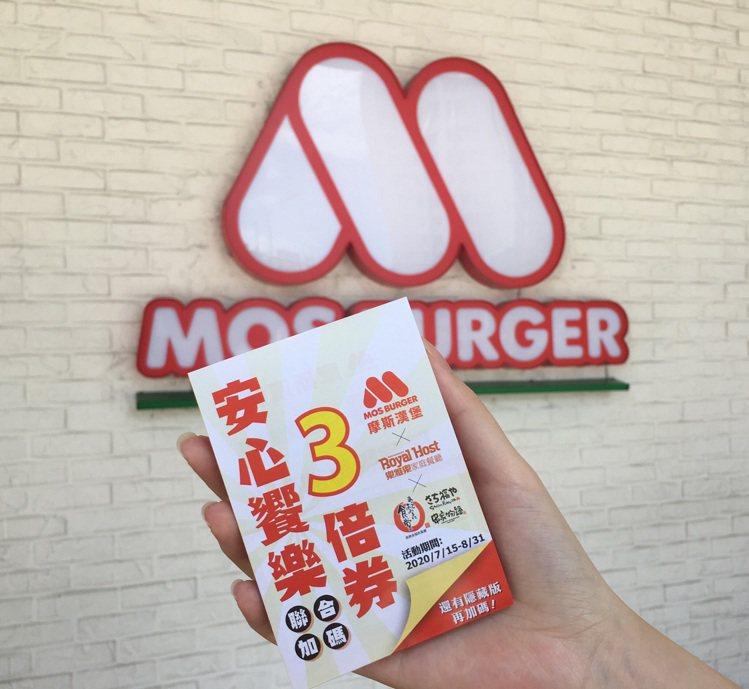 東元餐飲旗下三品牌─摩斯漢堡、樂雅樂、美樂食聯合推出「2020安心響樂3倍券」。...