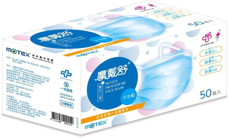 屈臣氏7月13日於門市開賣1,600盒「摩戴舒醫用口罩50片裝-天空藍」,售價3...