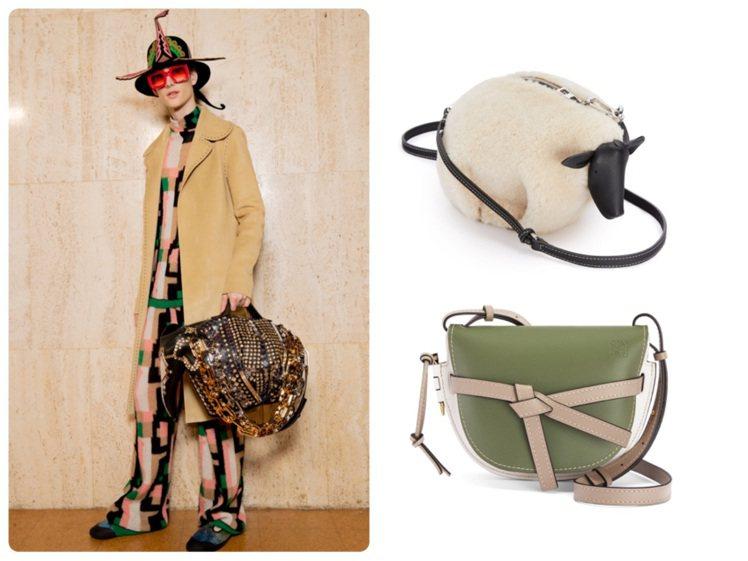 LOEWE發表秋冬男女裝新品。圖/LOEWE提供