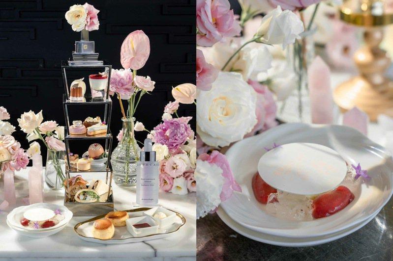 香緹卡與馬可波羅酒廊跨界推出「鑽石級週末午茶約會」。圖/香緹卡提供