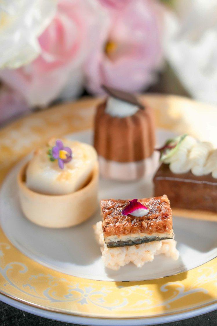 香緹卡與馬可波羅酒廊的下午茶,充滿巧思。圖/香緹卡提供