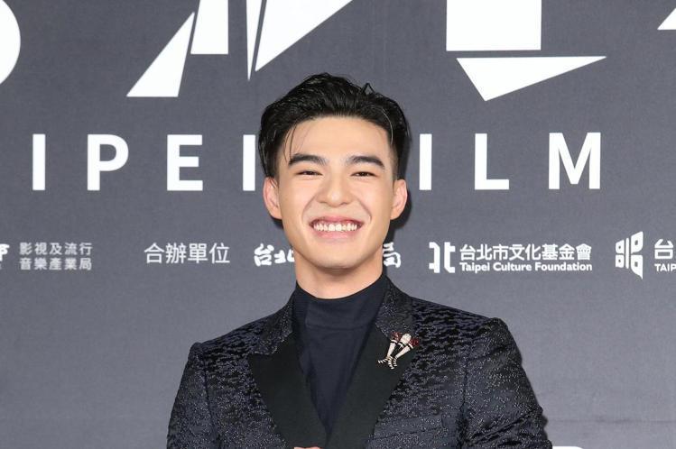 台北電影獎在中山堂頒獎,陳昊森出席台北電影獎會前接受媒體拍攝。