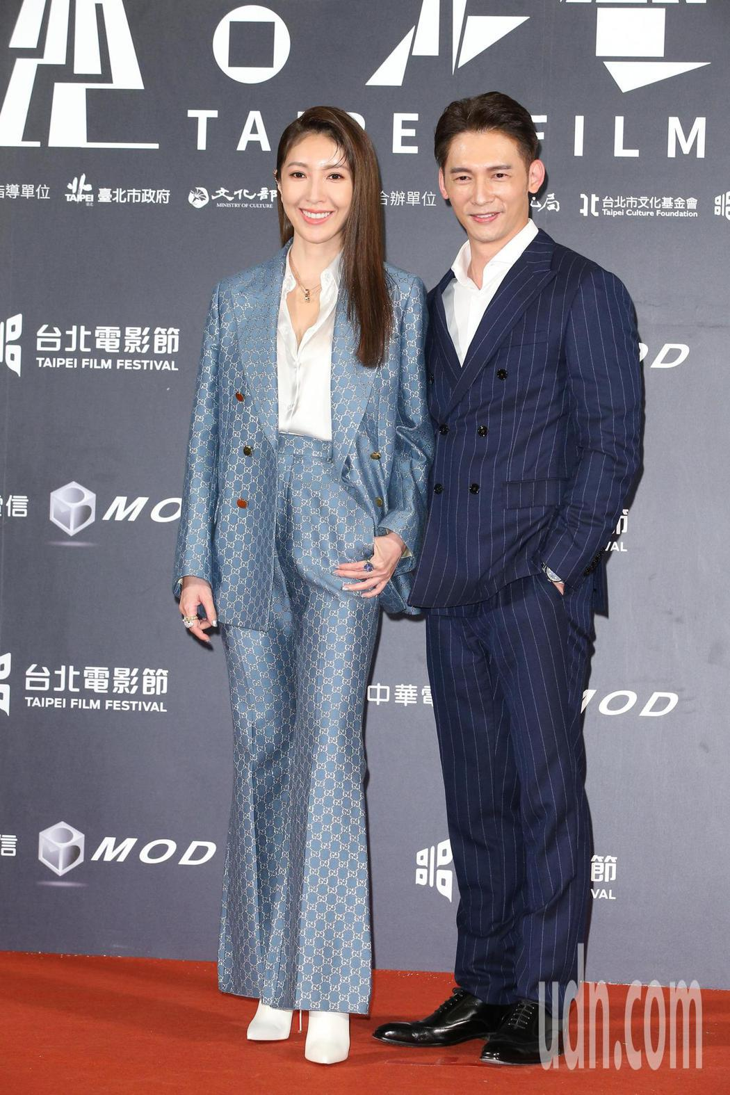 楊謹華(左)、溫昇豪。記者陳立凱/攝影