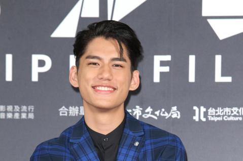 台北電影獎頒獎,范少勳、朱軒洋出席台北電影獎會前接受媒體拍攝。