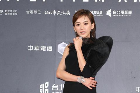 台北電影獎頒獎,陳意涵、邱澤出席台北電影獎會前接受媒體拍攝。