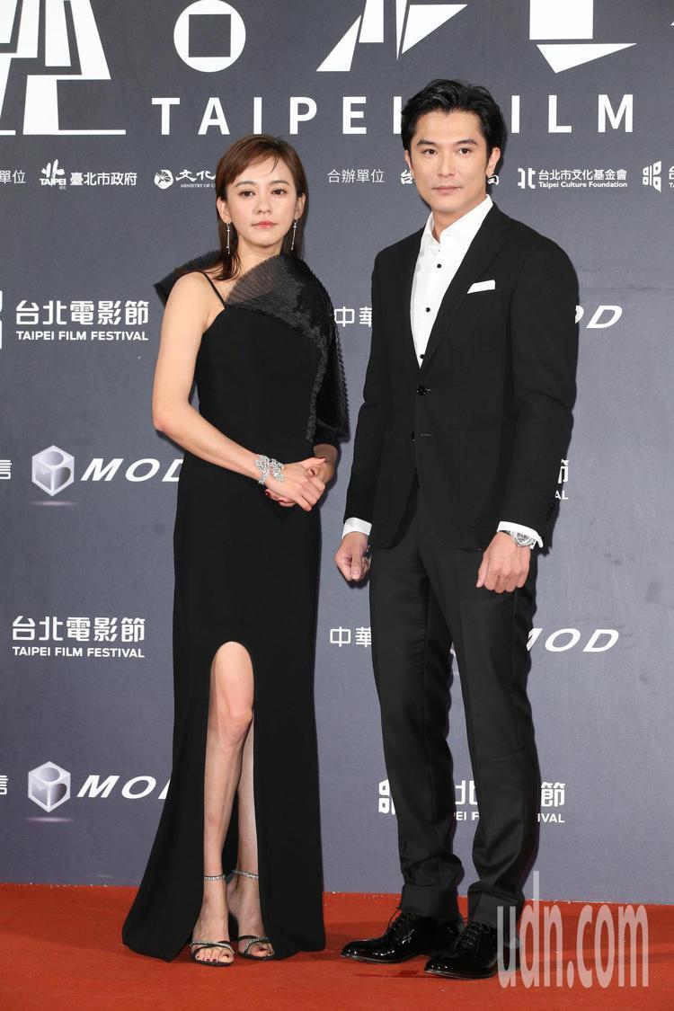 陳意涵(左)、邱澤。記者陳立凱/攝影