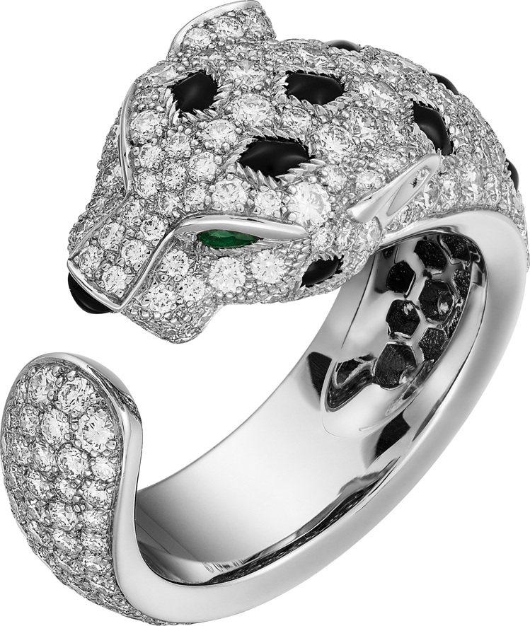 卡地亞美洲豹系列鑽石戒指,約119萬元。圖/卡地亞提供