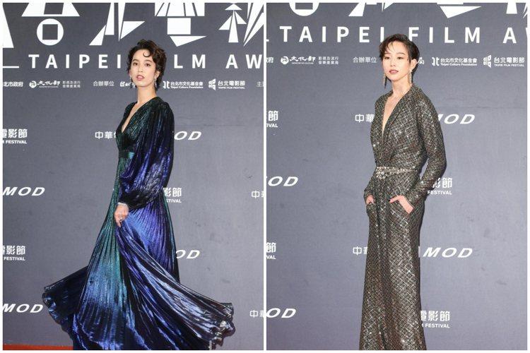 女星紛紛以長垂墜耳環妝點紅毯造型。記者陳立凱/攝影