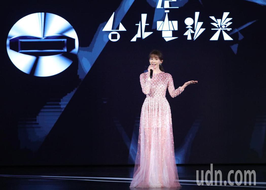 台北電影獎驚喜連連,典禮一開始林志玲擔任開場引言人。圖/台北電影獎提供