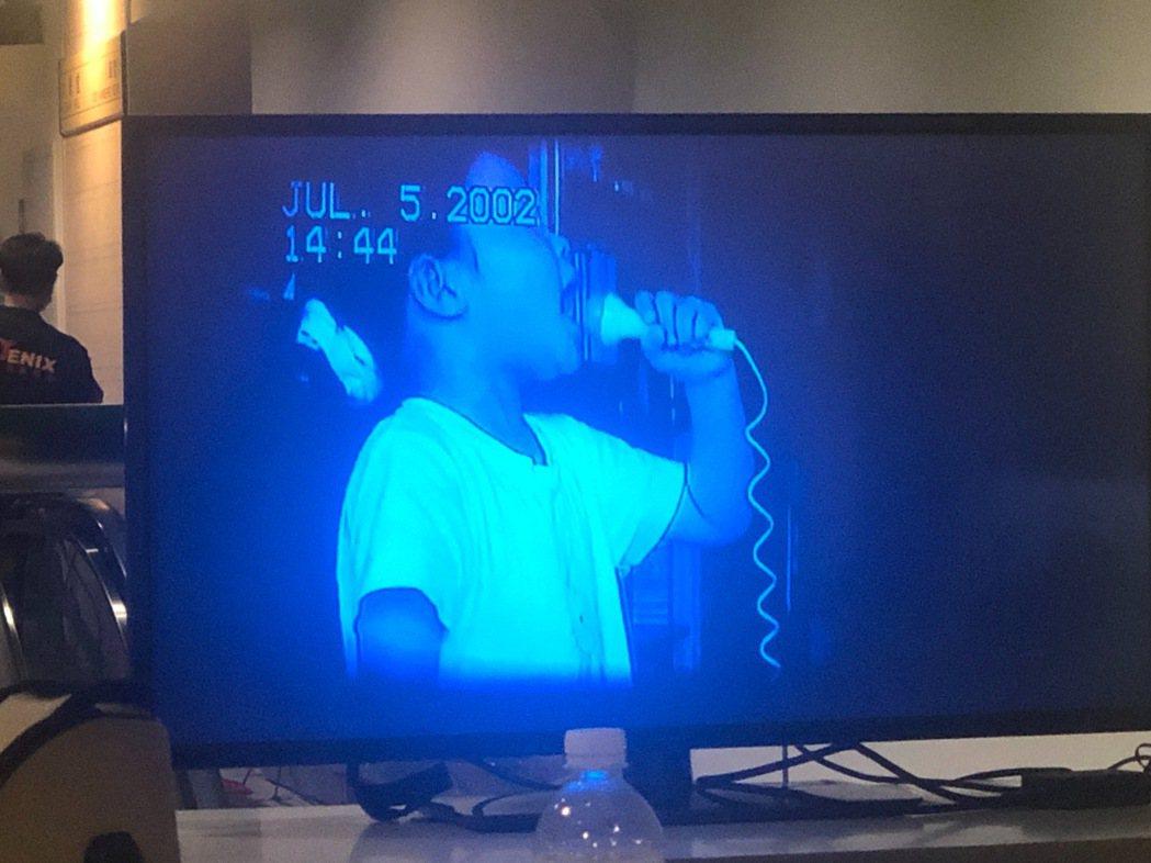 潘越雲分享女兒璽兒2歲時演唱「天天天藍」的畫面。記者王郁惠/攝影