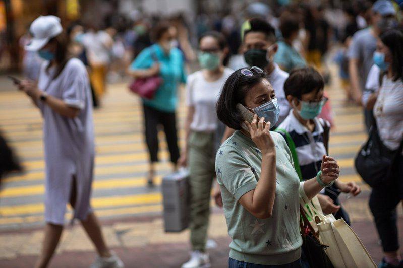 香港新冠肺炎疫情再起。 歐新社