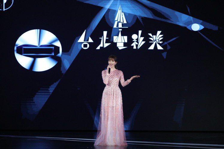 林志玲擔任台北電影獎頒獎典禮引言人。圖/台北電影獎提供