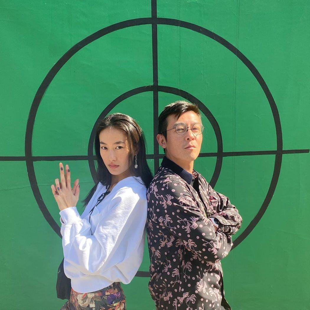 陳冠希與老婆秦舒培。 圖/擷自嚮往的生活微博