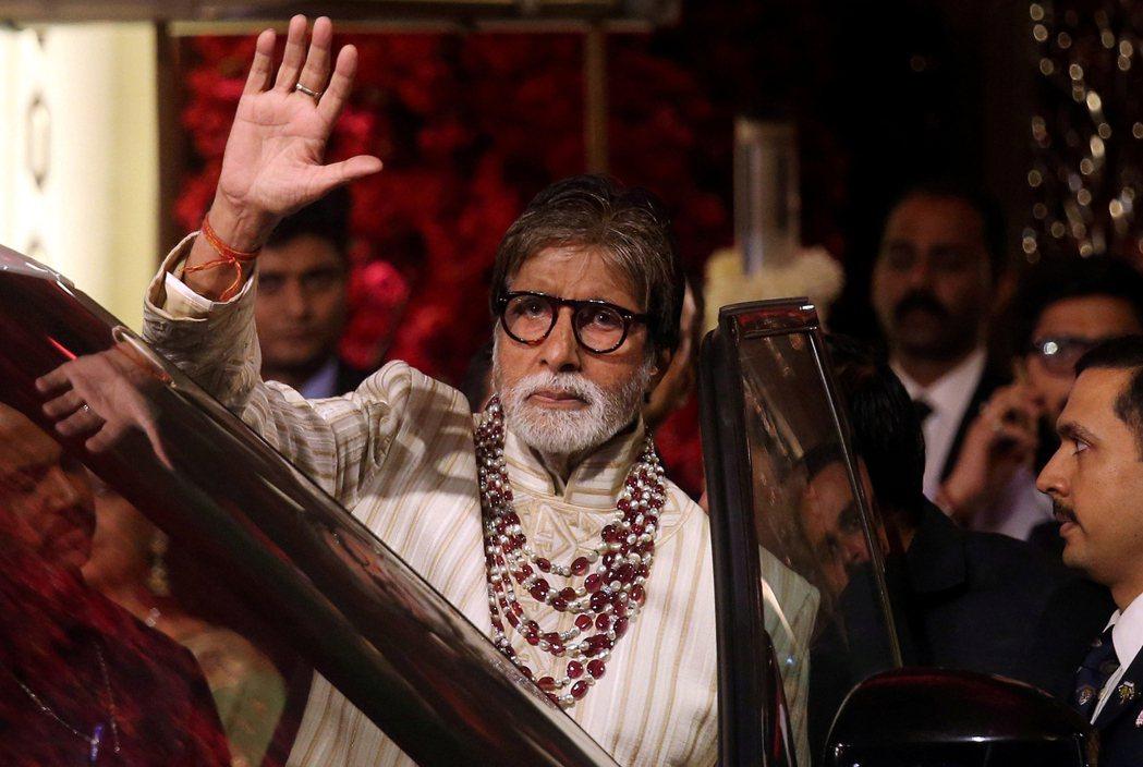 寶萊塢老牌巨星阿米塔巴昌(Amitabh Bachchan)。 路透社