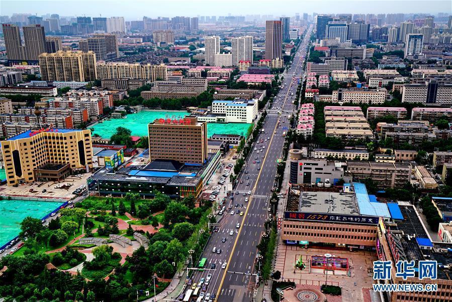 河北唐山市區。取自新華網