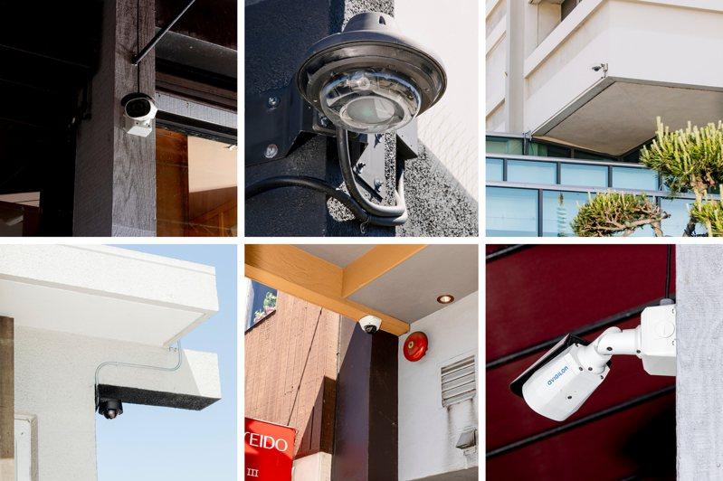 為解決竊賊橫行問題,舊金山日本城附近,有不少矽谷創業家拉爾森捐款設置的監視攝影機。圖/取自紐約時報