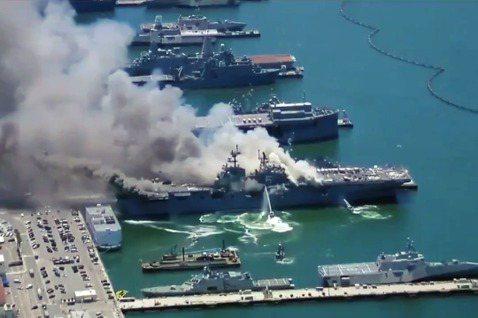 美國海軍的黃蜂級兩棲突擊艦「好人理查號」(USS Bonhomme Richar...