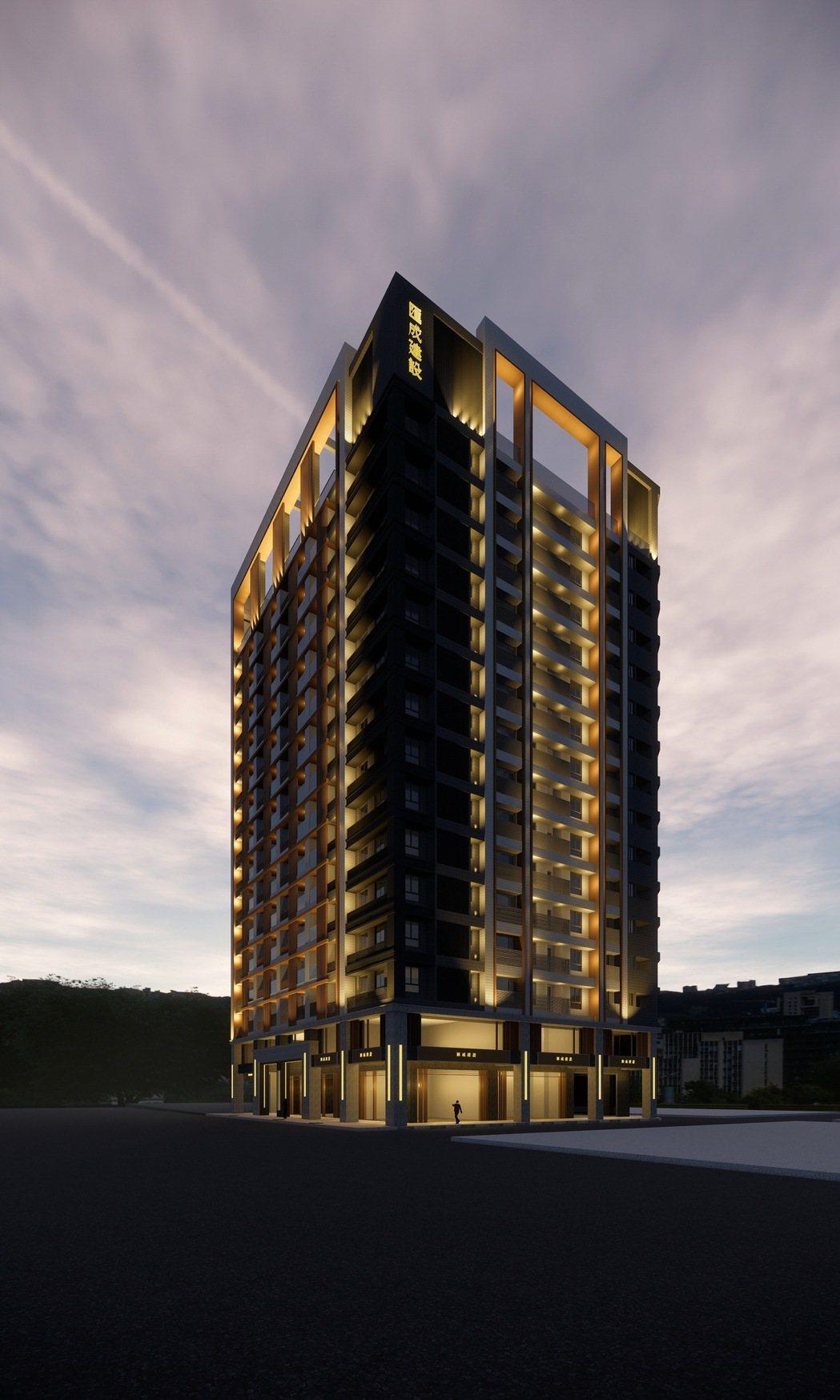 「匯視界」基地350坪,地上15樓、地下5樓,規劃24至39坪、143戶住家,另...
