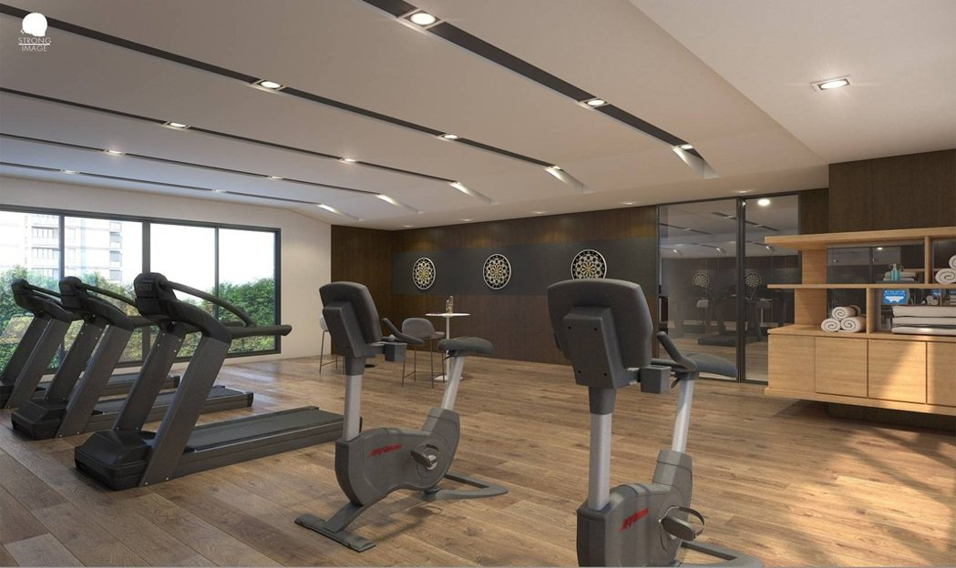 都會輕豪宅最受住戶喜愛的公設就是健身房。 圖片提供/匯成建設