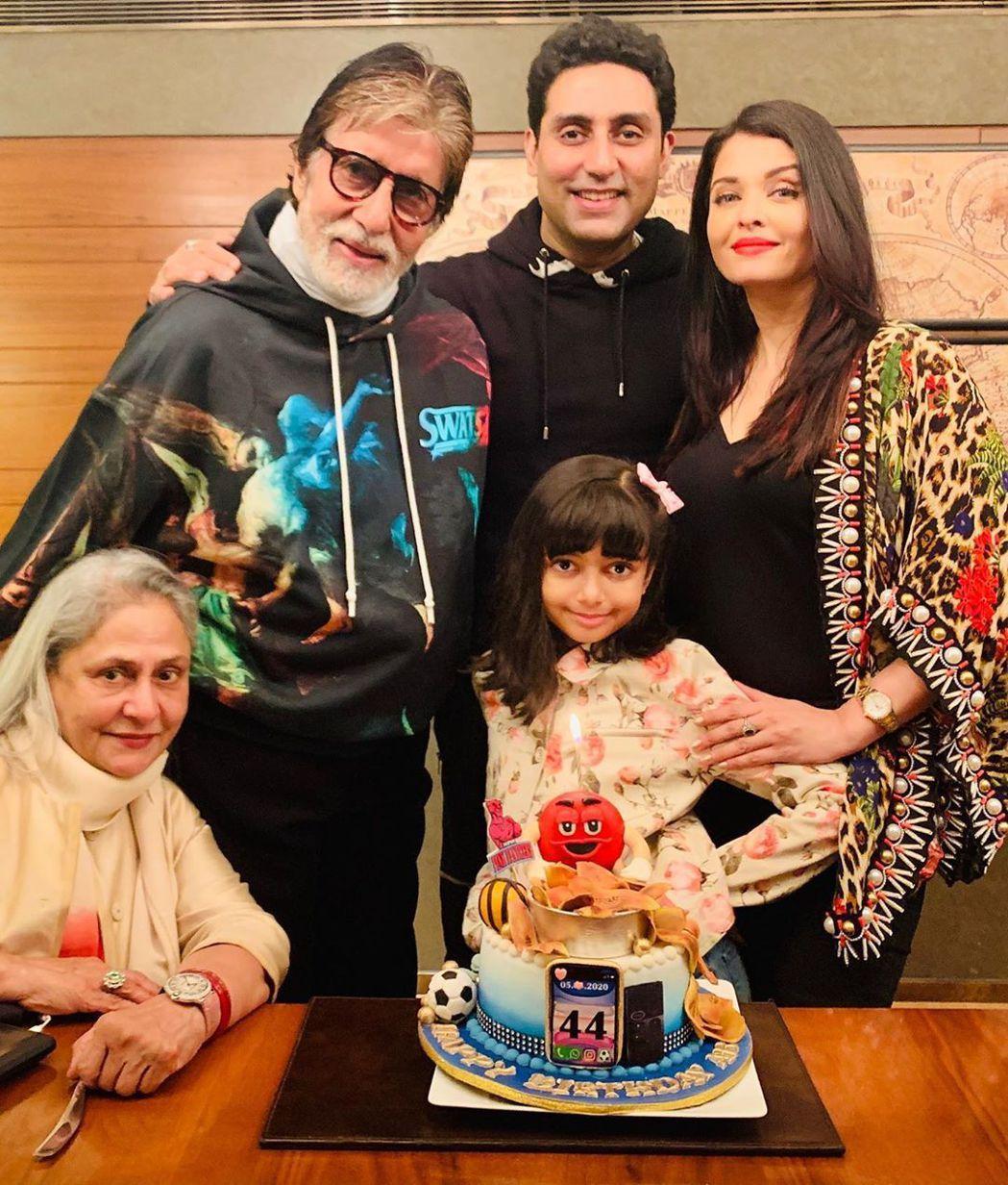 寶萊塢女星艾絲維亞雷與老公阿彼錫巴克罕、公公阿米塔巴強及8歲女兒確診新冠肺炎。圖...